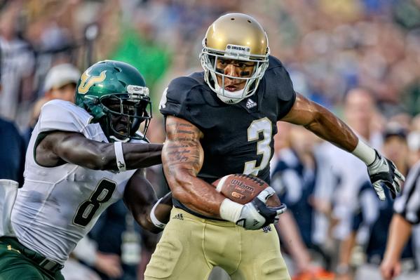 NCAA FOOTBALL: SEP 03 South Florida at Notre Dame